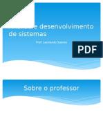 Introdução a análise e desenvolvimento de sistemas
