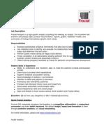 Analyst JD Fractal Analytics
