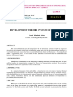 Development the Oil System of Aircraft