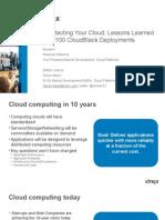 Architecting an IaaS Cloud - CCR NL FR UK