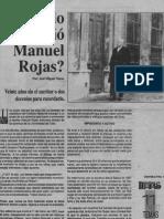¿Cuándo Murió Manuel Rojas. Por José Miguel Varas