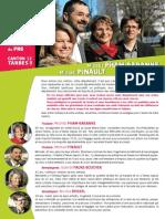 Déclaration de candidature de Michèle Pham-Baranne et Michaël Pinault pour Tarbes3