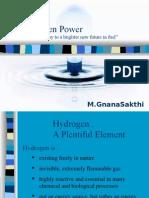 Hydrogen - Alternate fuel by M GnanaSakthi