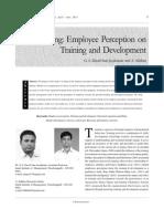 Modelling Employee Perception on Training and Development