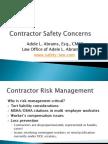 Safety Concerns - Contractor