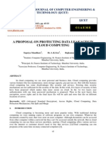 A Proposal on Protecting Data Leakages in Cloud Computing