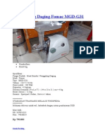 Mesin Giling Daging Fomac MGD