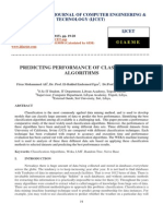 Predicting Performance of Classification Algorithms