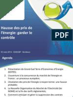 Colloque Efficacite Energétique Dans Les IAA - Ouverture Marché de l'Énergie