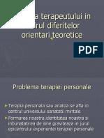 Terapia Terapeutului in Cadrul Diferitelor Orientari Teoretice