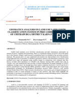 Geomatics Analysis on Land Use Land Cover Classification System in Precambrian Terrain of Chitradurga District Karnataka India