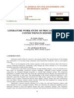 Literature Work Study of Precast Concrete Connections in Seismic