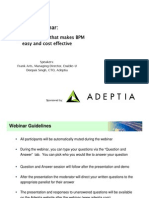 Adeptia Webinar BPM Made Easy and Cost Effective