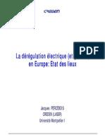 Dérégulation Électrique en Europe
