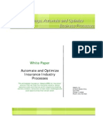 Insurance Industry Processes