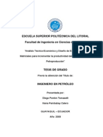 Analisis Tecnico Economico y Diseño de Estimulación