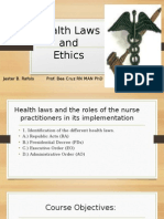 Health Laws Report