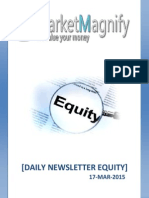 Today Equity Market Calls and News Letter