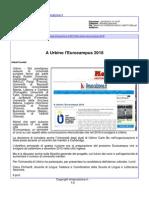 A Urbino l'Eurocampus 2018 - Il Mascalzone.it, 16 marzo 2015
