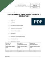 Po-hse-05 Procedimiento Tapado de Zanja y Compactado