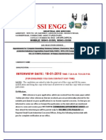 Ssi Engg Selection Order