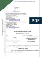 IGT v. Aristocrat - Complaint