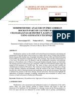 Morphometric Analysis on Precambrian Rocks in Part of Cauvery Basin Chamarajanagar District
