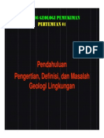 Geologi Pemukiman Pertemuan 1