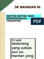 POKOK BAHASAN IIITOKSIKO
