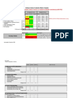 SW Vendor Evaluation Matrix Template