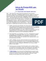17 Características Do PostgreSQL Que Fazem Falta No Oracle