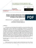 Design of High Speed Reconfigurable Coprocessor for Interleaver and de-Interleaver Operations