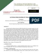 Automated Elephant Tracker