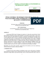 Pwm Control Technique for Migration of Voltage Dips Using Interline Unified Power Quality Conditioner