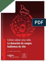Blood Donation Leaflet Spanish