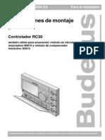 Instrucciones de Montaje y Servicio RC30