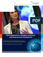 201516 PhD Programme on Innovation, Economics and Governance for Development