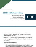 DOCSIS 3.0 Multicast