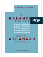 FY 2016 Budget Resolution
