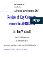 AERO2358 Review of Key Concepts 2015