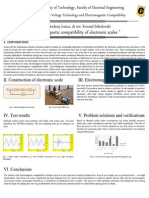 Electromagnetic compatibility of electronic scales