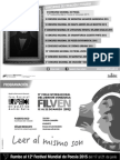 Programacion Filven 2015 | Casa Nacional de las Letras Andrés Bello