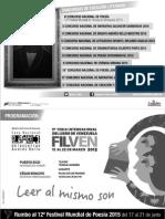Programacion Filven 2015   Casa Nacional de las Letras Andrés Bello