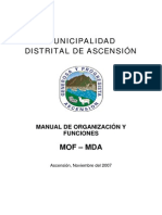 Manual de Organización y Funciones MOF - 2008