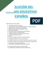 Evolución del sistema educativo español
