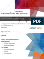 Advertising Effectiveness Benchmarks and Best Practices