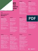 Multiple Others - Workshop Programme