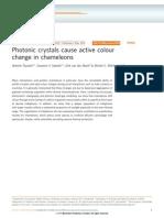 Teyssier Et Al. - Photonic Crystals Cause Active Colour Change in Chameleons