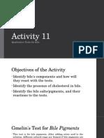 Activity 11 Bile BIOCHEM