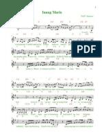 Inang Maria Musical Score